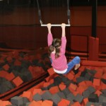 Swinging into foam pit